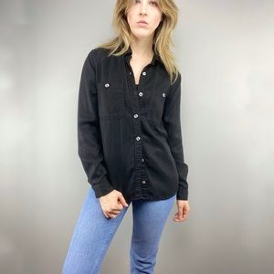 7 for All Mankind black button down top